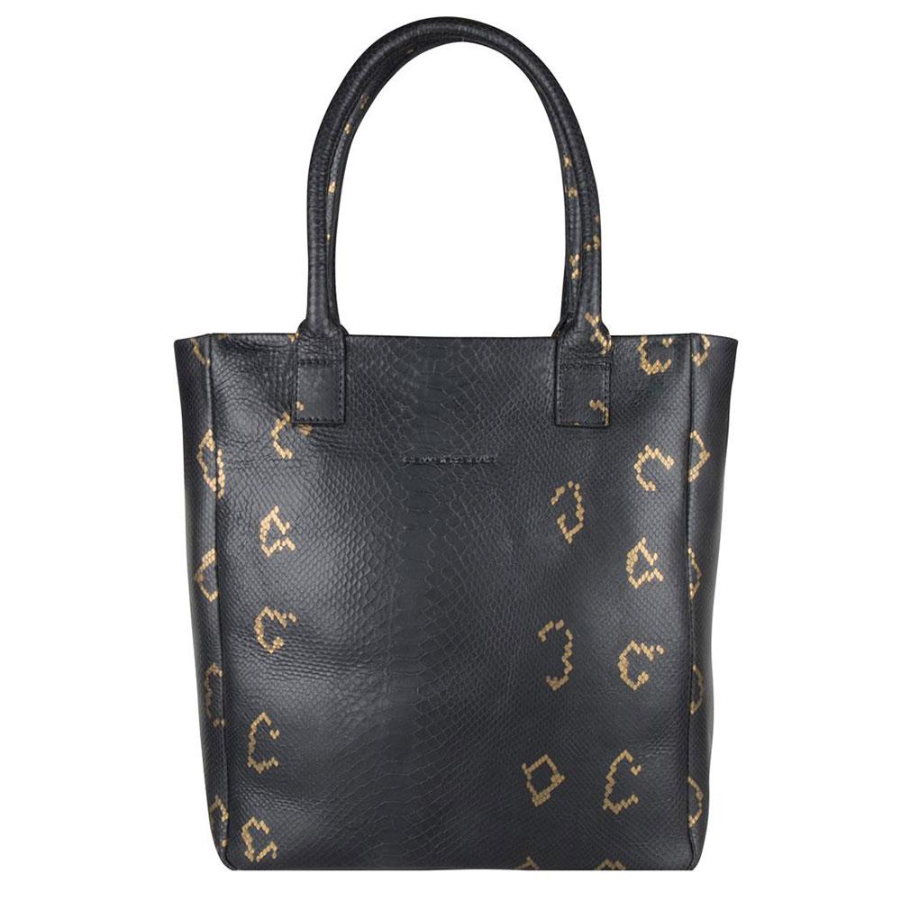 Cowboysbag X Bobbie Bodt Bag Quartz 13 Shopper Snake Black And Gold