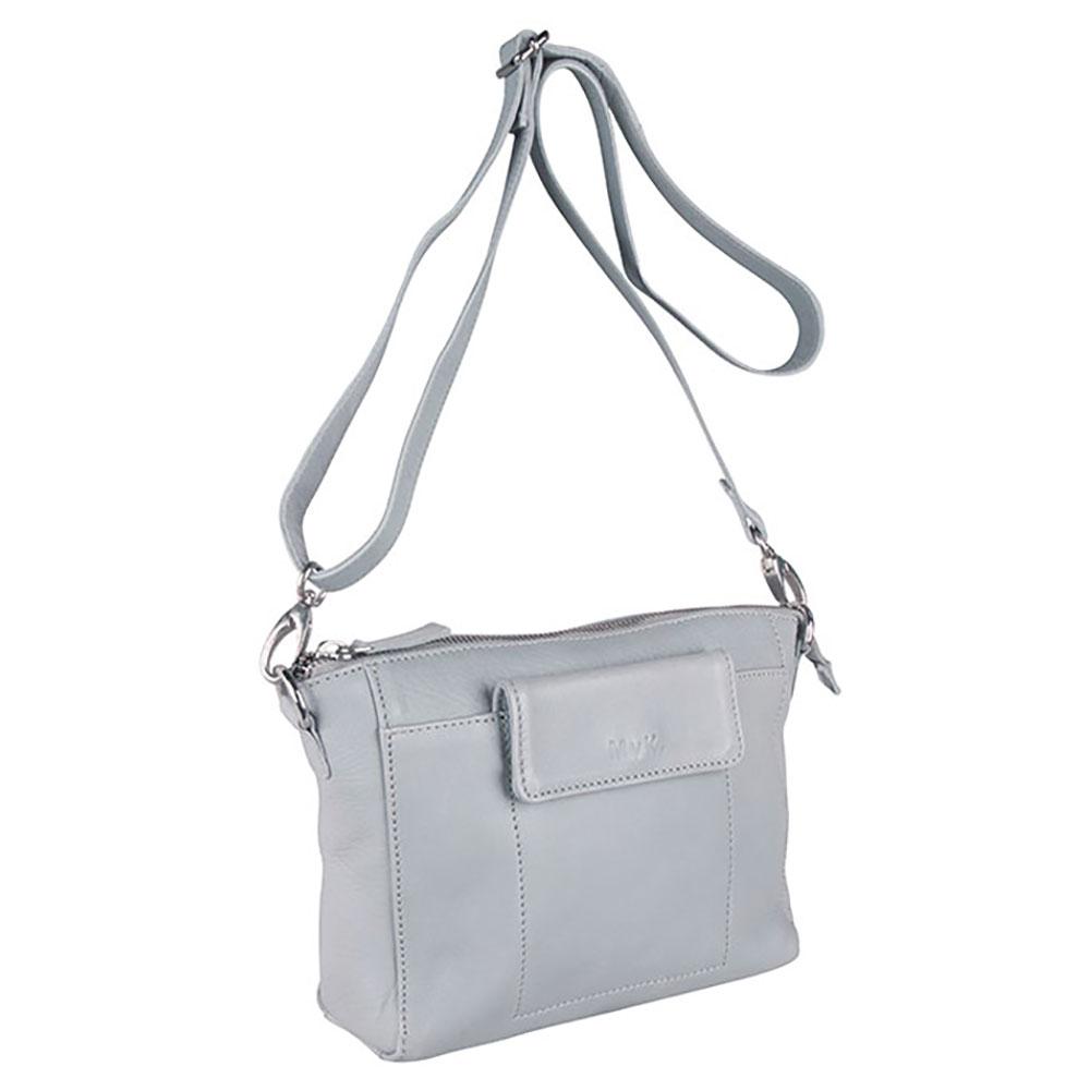 MyK Bag Avalon Schoudertas Silver Grey