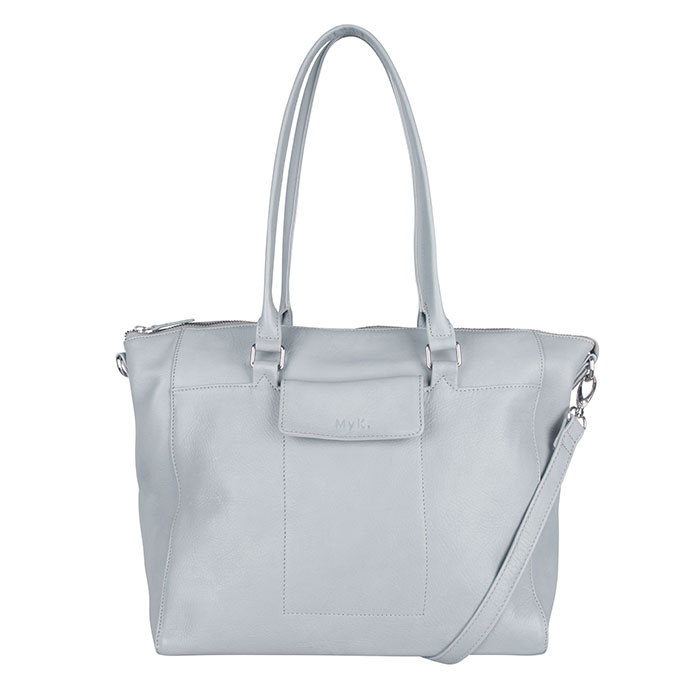 MyK Bag Carlyle Schoudertas Silver Grey