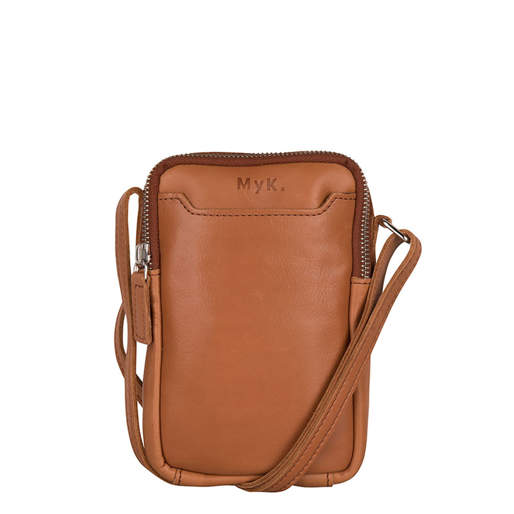 MyK Bag Lake Crossover Schoudertas Caramel