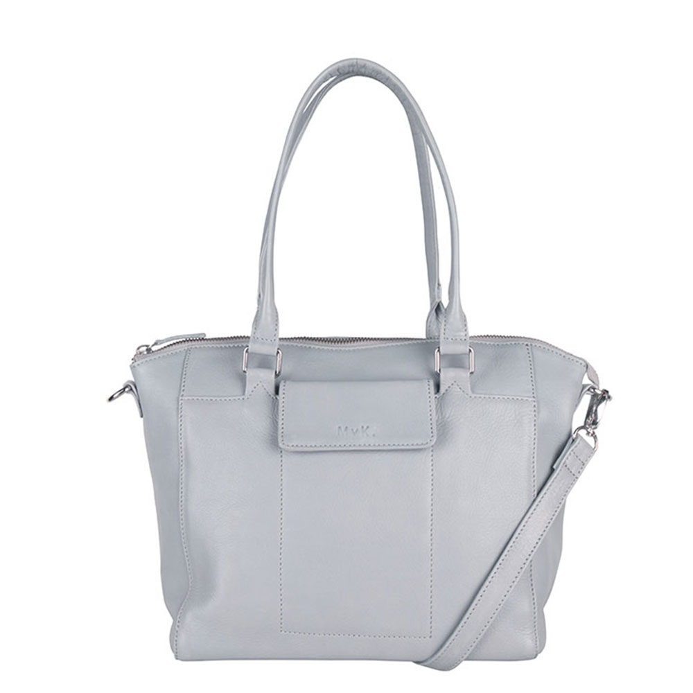 MyK Bag Marlin Schoudertas Silver Grey