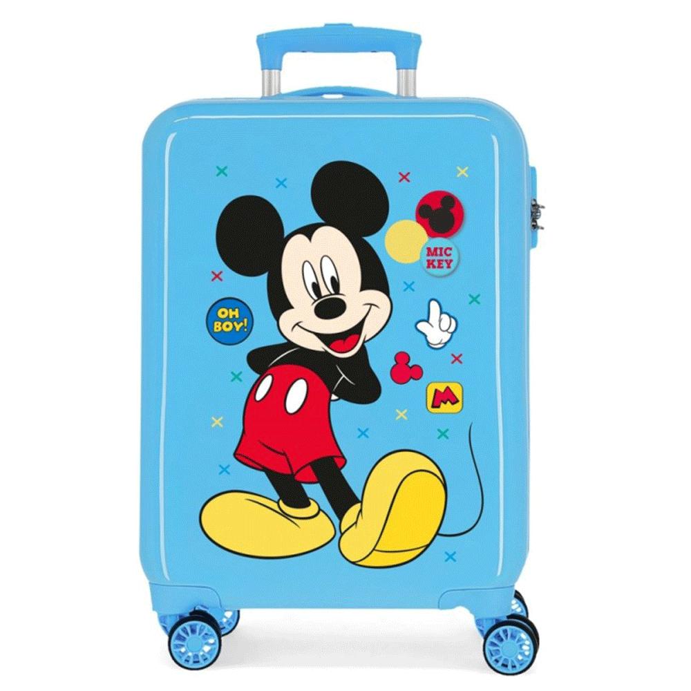 Disney Trolley 55 Cm 4 Wheels Mickey Mouse Enjoy The Day Twister Light Blue