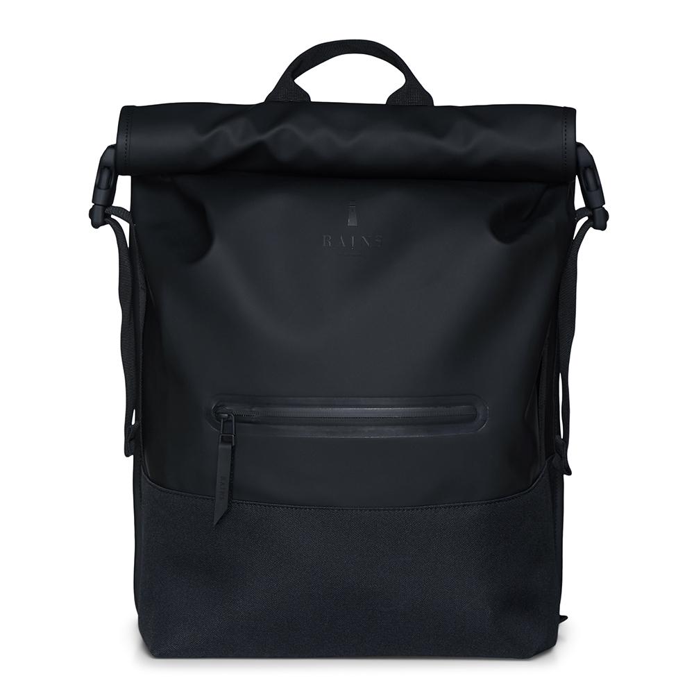 Rains Original Buckle Roll Top Backpack Black