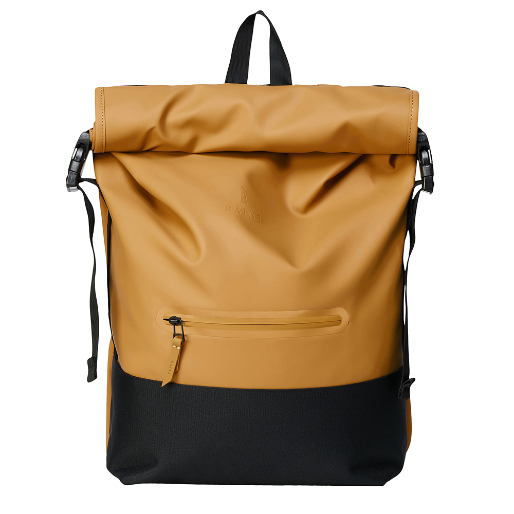 Rains Original Buckle Roll Top Backpack Khaki