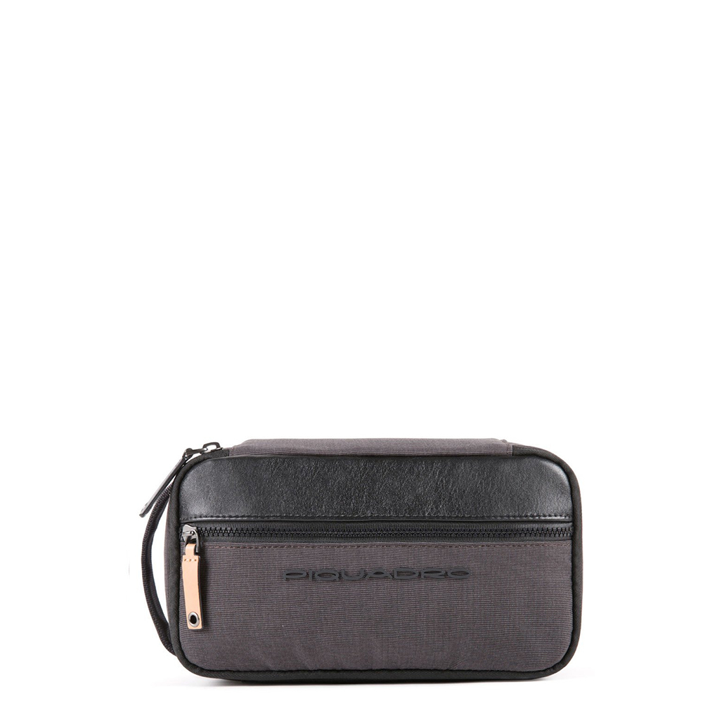 Piquadro Blade Organized Toiletry Bag Black