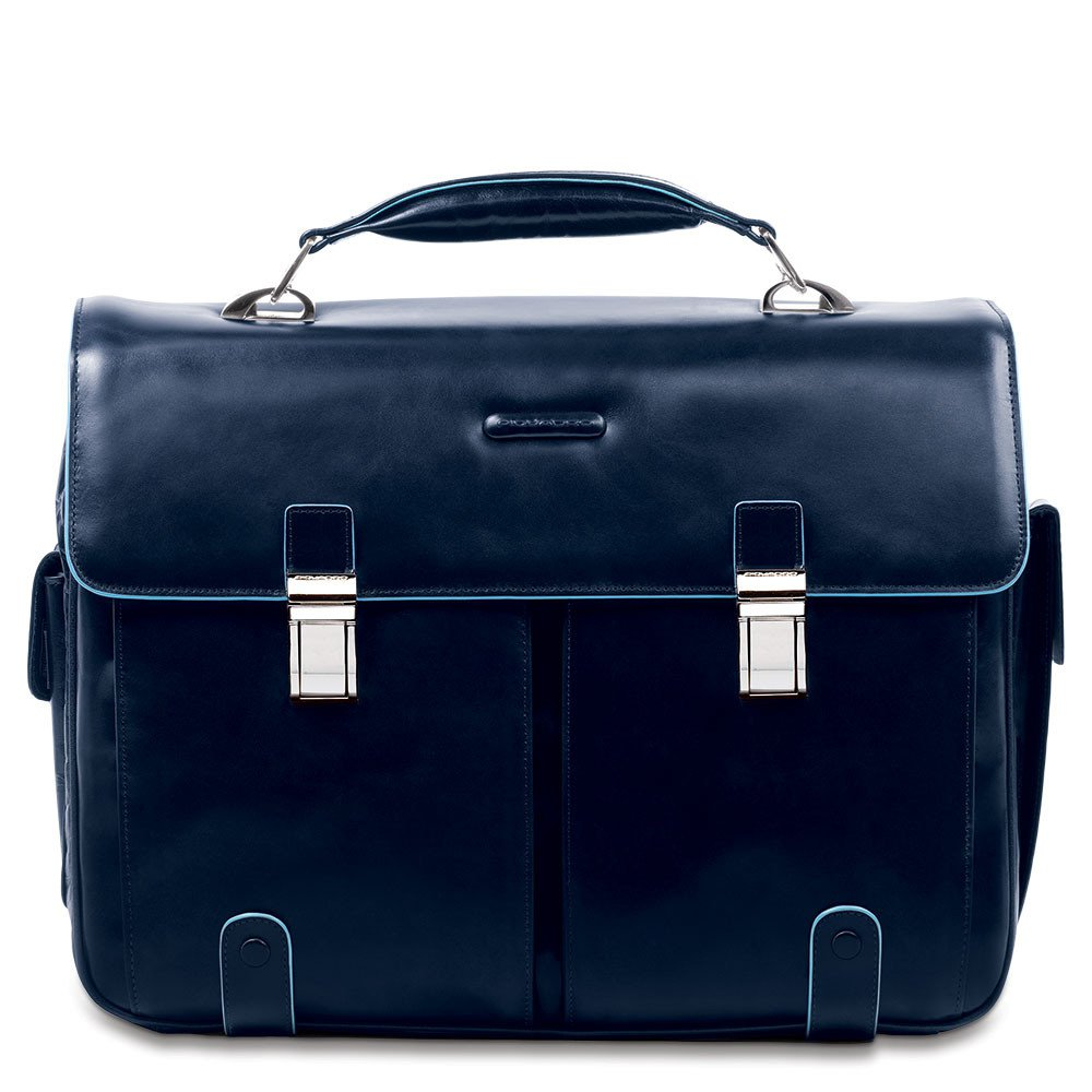 Piquadro Blue Square Computer Briefcase 15.6 Night Blue