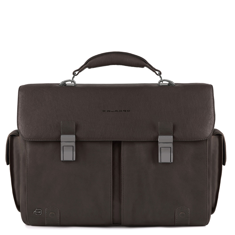 Piquadro Black Square Computer Briefcase 15.6