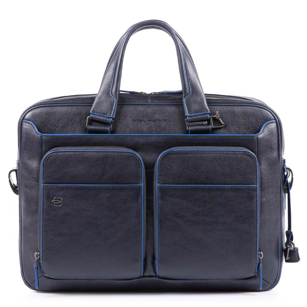 Piquadro Blue Square Portfolio Computer Briefcase with iPad 10.5/9.7 Night Blue