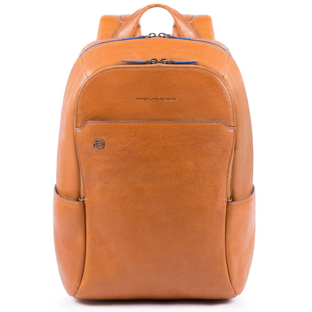 Piquadro Blue Square S Matte Small Size Computer Backpack Tobacco