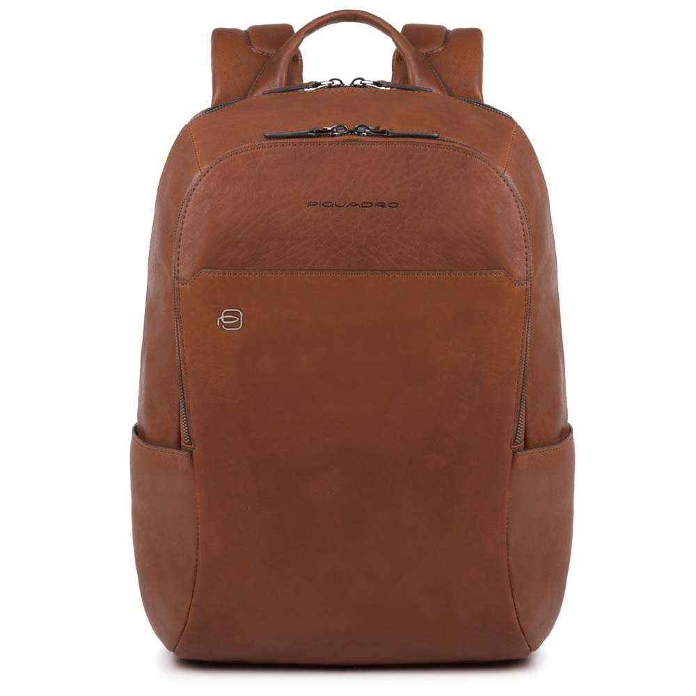 Piquadro Black Square Backpack 13'' Tobacco