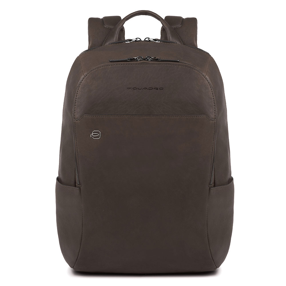 Piquadro Black Square Backpack 13'' Dark Brown