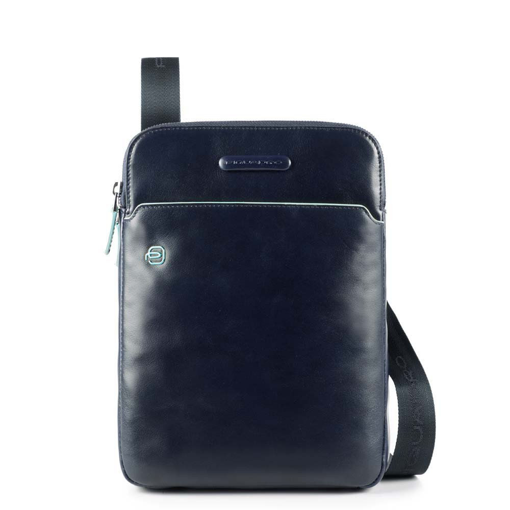 "Piquadro Blue Square Crossbody Bag iPad Air/Pro 9.7"" Night Blue"