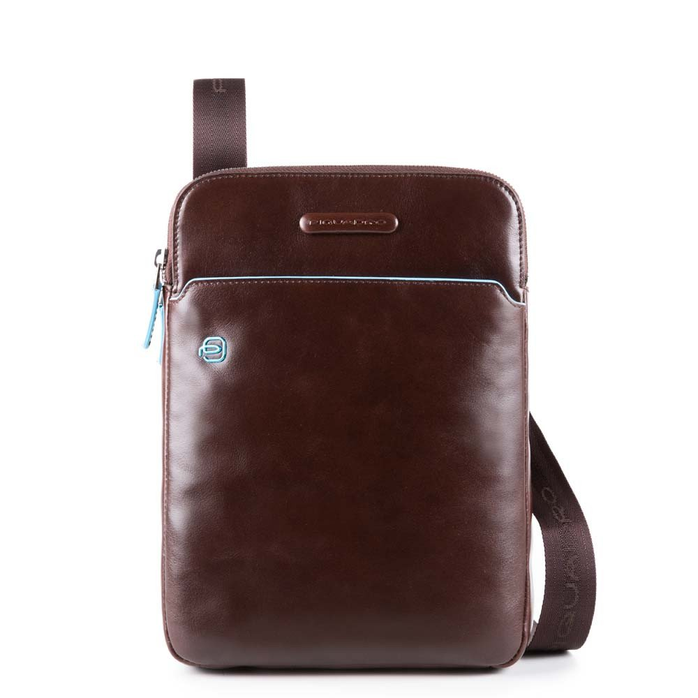 "Piquadro Blue Square Crossbody Bag iPad Air/Pro 9.7"" Mahogany"