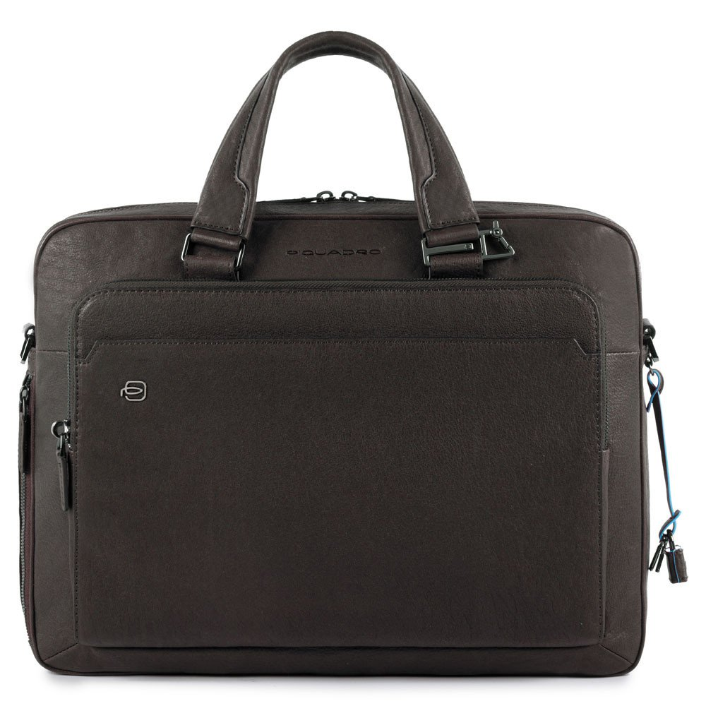 Piquadro Black Square Briefcase 15 Dark Bown