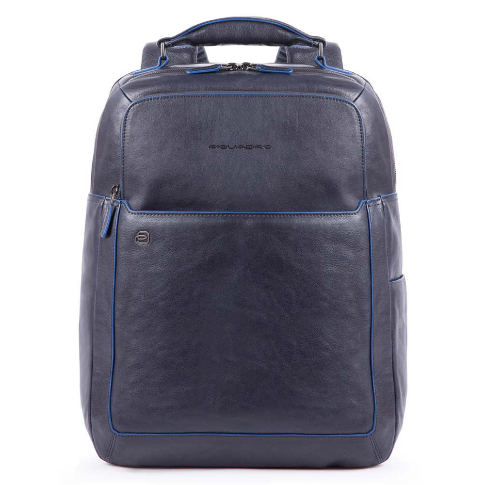 Piquadro Blue Square Fast Check Computer 15.6 Backpack iPad 10 Blue