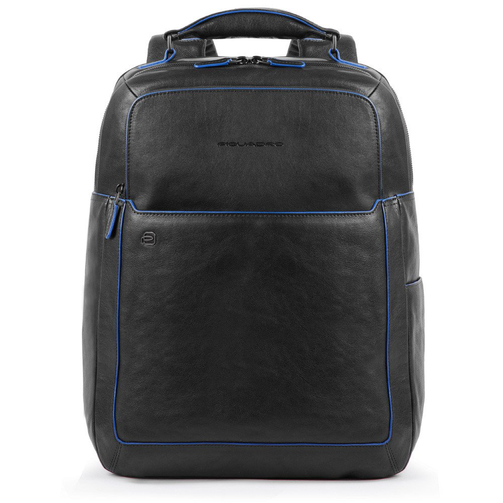 Piquadro Blue Square S Matte Fast Check Computer 15.6 Backpack Black