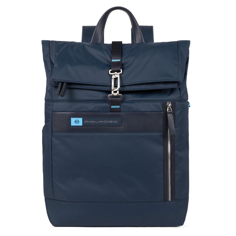 Piquadro PQ-BIO Nylon Roll Top PC Backpack 15.6 Blue