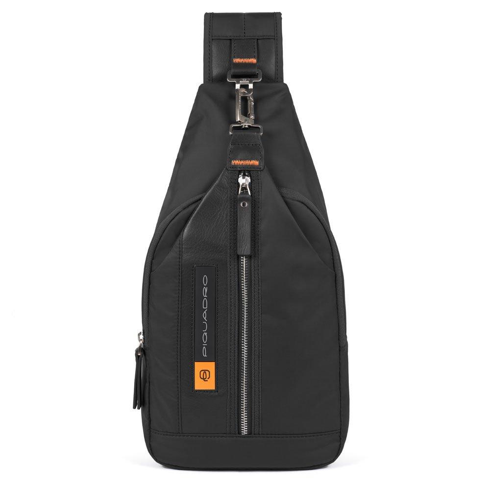 Piquadro PQ-BIO Nylon Mono Sling Bag Black