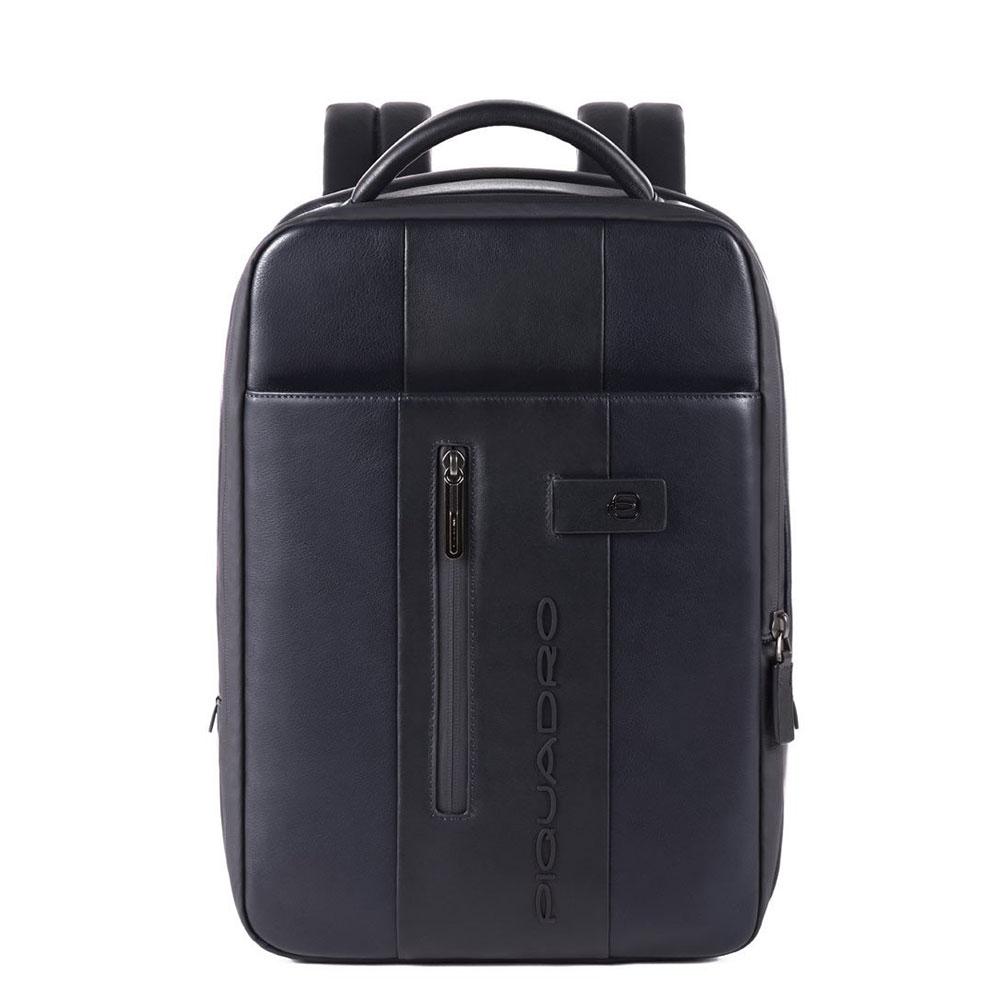 Piquadro Urban Expandable Small Size Slim Backpack 14'' Blue