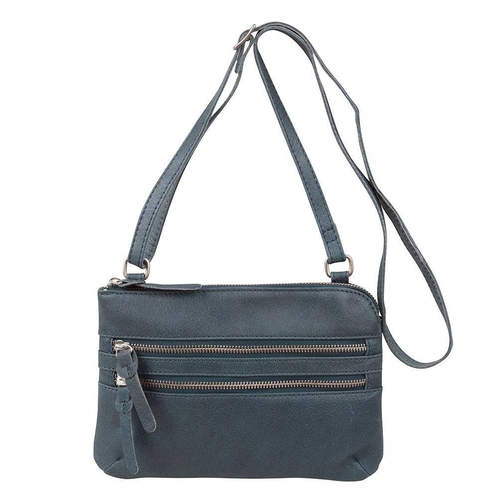 Cowboysbag Bag Tiverton Schoudertas Petrol 1677 Cowboysbag Schoudertassen