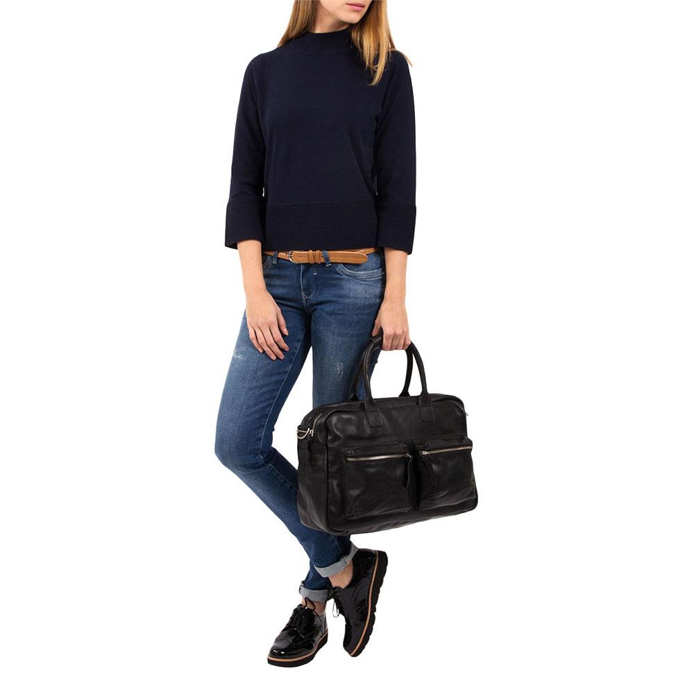 Cowboysbag The College Bag Schoudertas Black