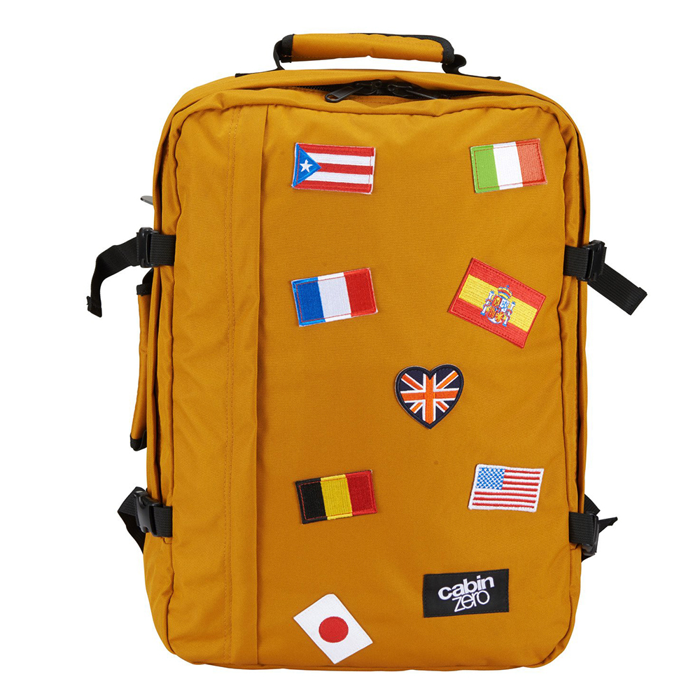 CabinZero Classic Flags 44L Ultra Light Cabin Bag Limited Edition orange chill Weekendtas