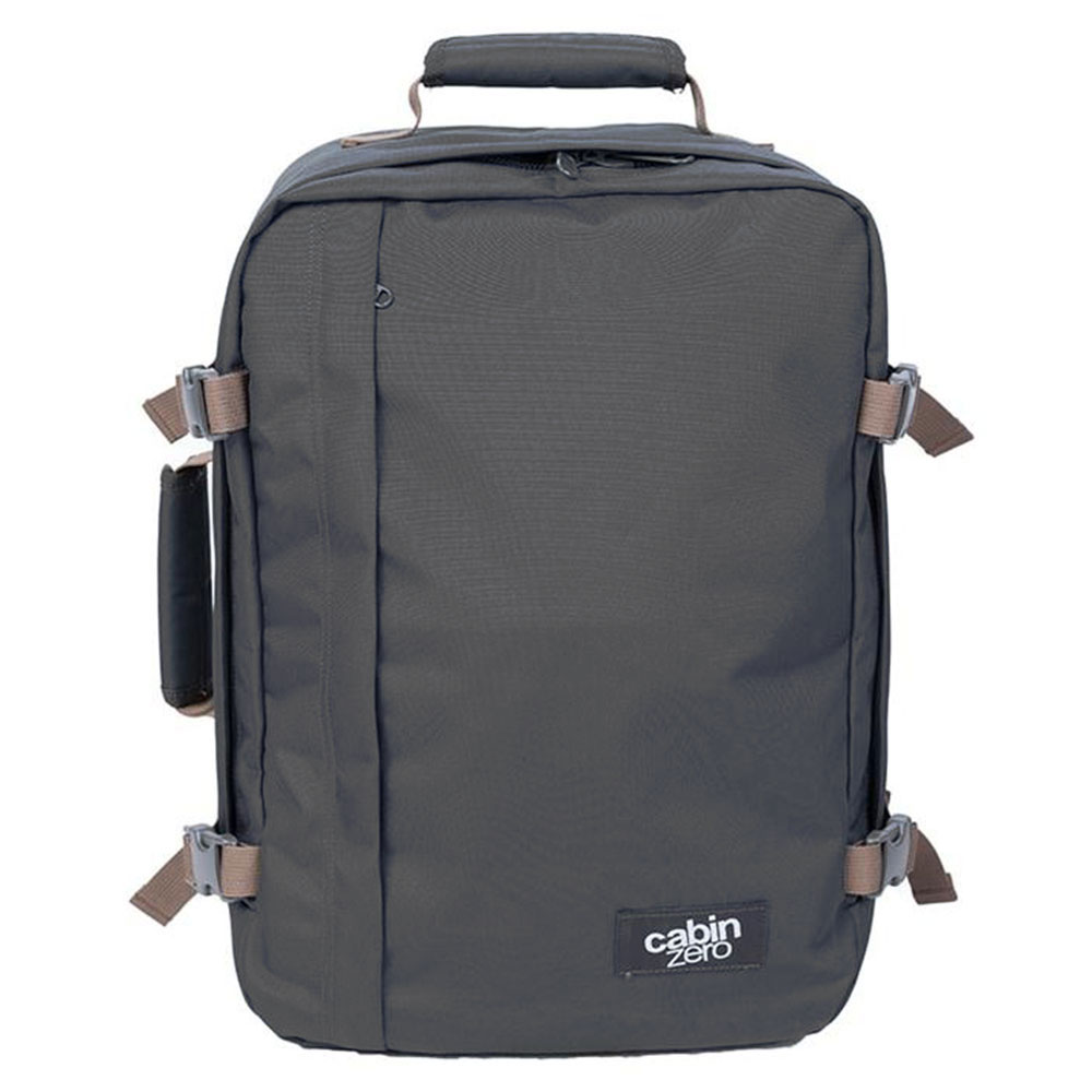 CabinZero Classic 36L Ultra Light Travel Bag Black Sand/ Green