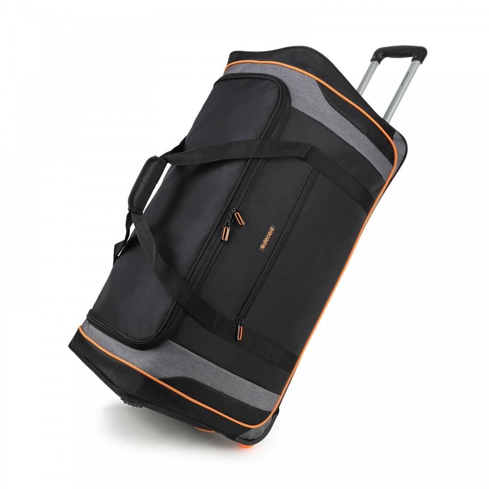 Decent Flexplus Reistas Met Wielen 78cm Zwart/Oranje