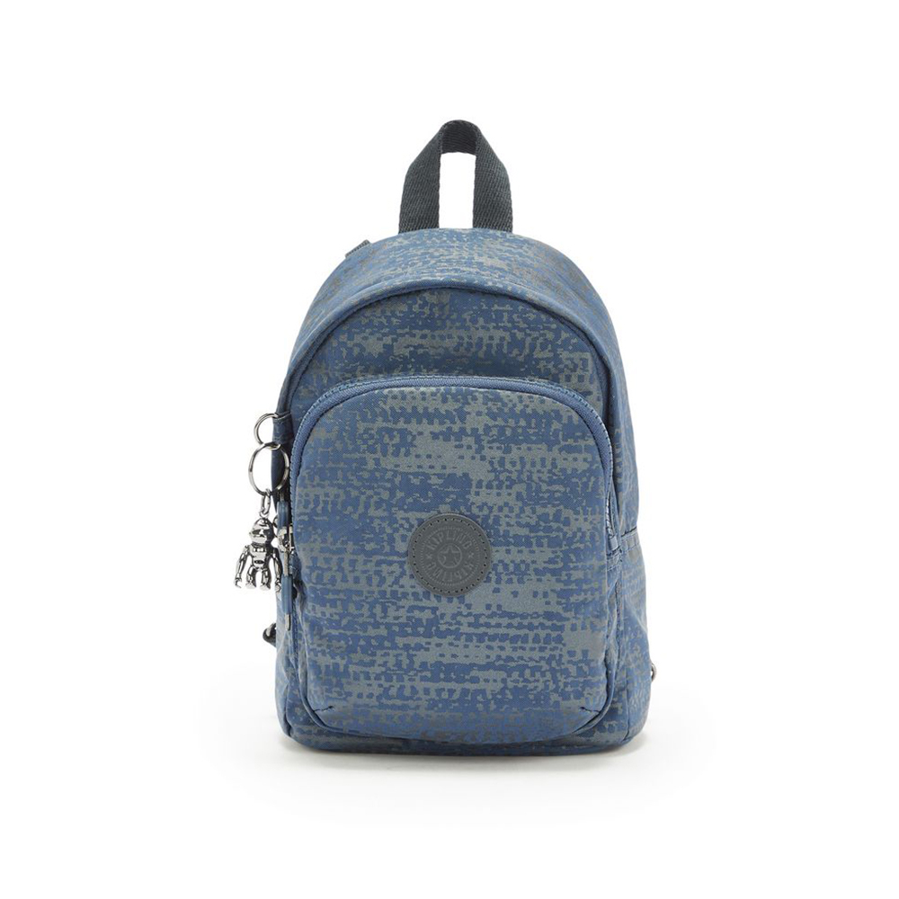 Kipling Delia Compact Small Backpack Blue Eclipse Print