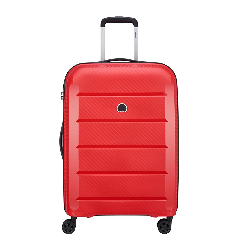 Delsey Binalong 4 Wheel Trolley 66 Red