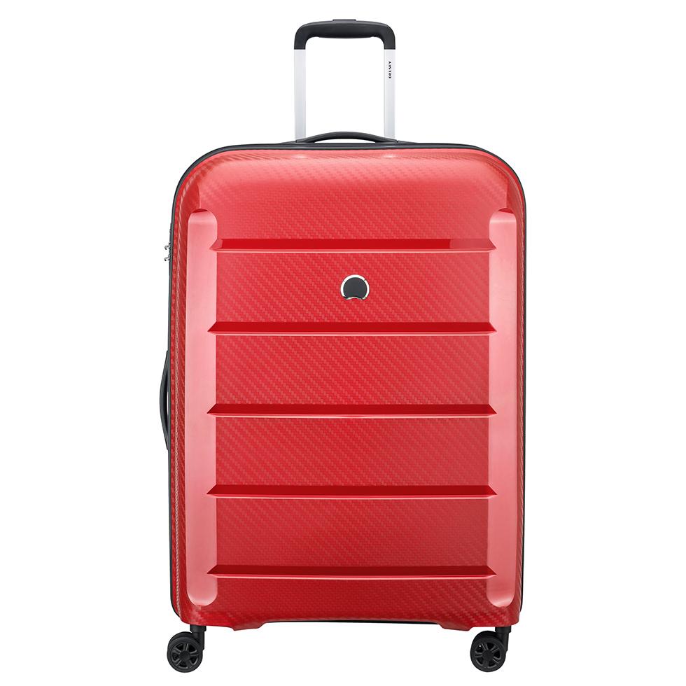 Delsey Binalong 4 Wheel Trolley 75 Red