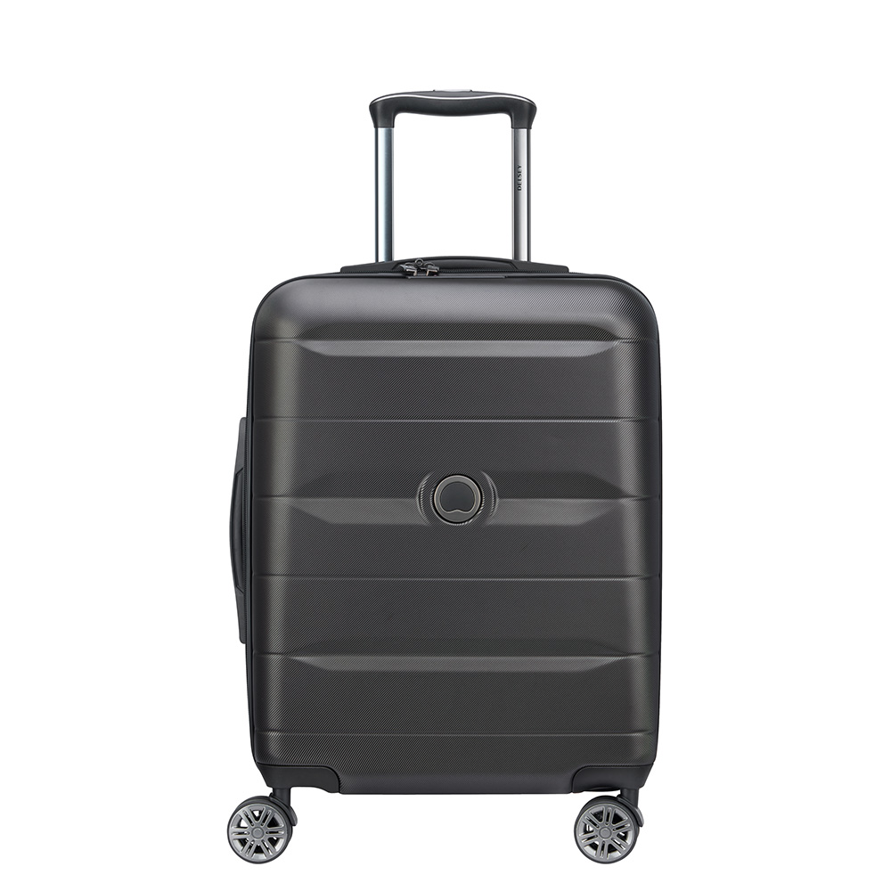 Delsey Comete 4 Wheels Slim Cabin Trolley 55 Black