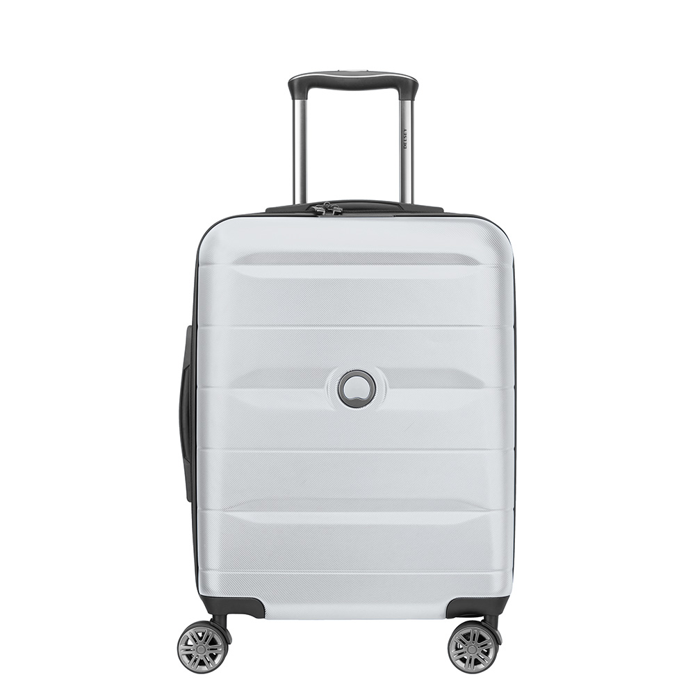 Delsey Comete 4 Wheels Slim Cabin Trolley 55 Silver Grey