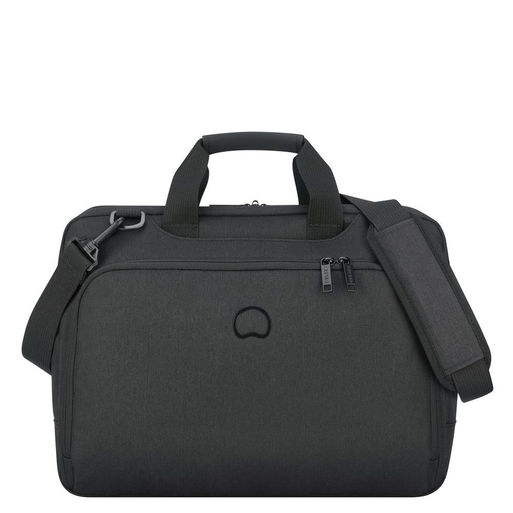 NU 15% KORTING: DELSEY aktetas met 15,6-inch laptopvak, Esplanade, 2 vakken, zwart