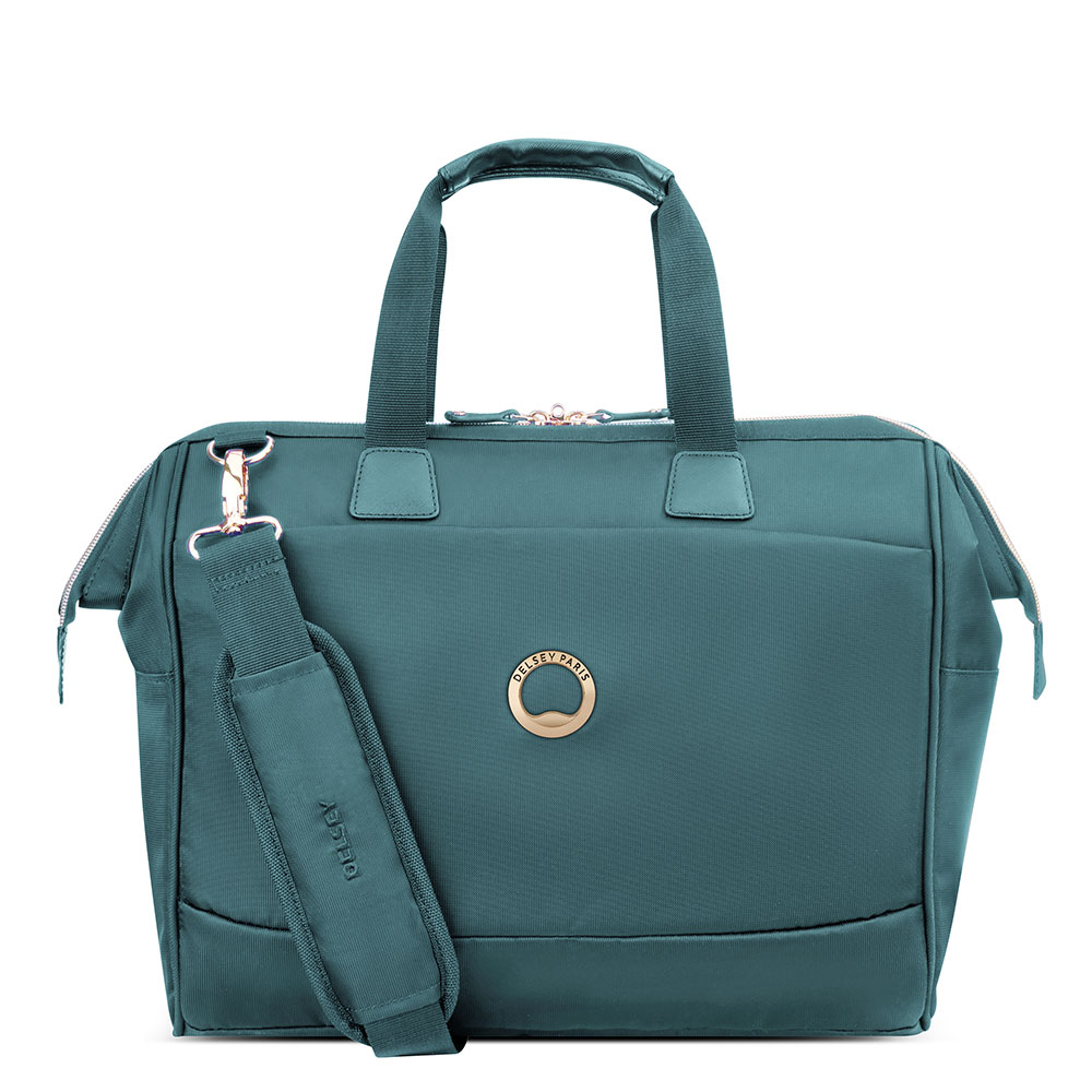 Delsey Montrouge Tote Reporter Bag Green