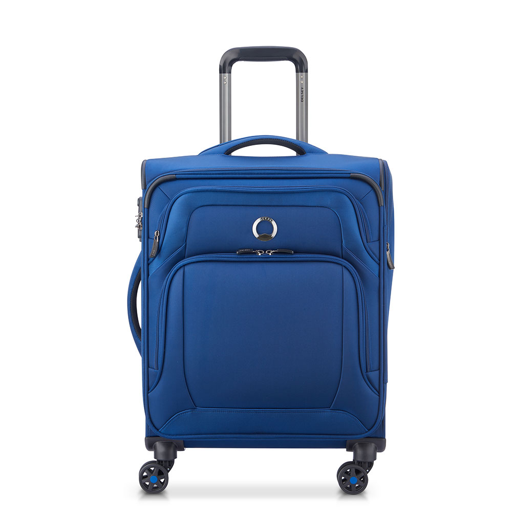 Delsey Optimax 4 Wheel Slim Cabin Trolley 55 Navy