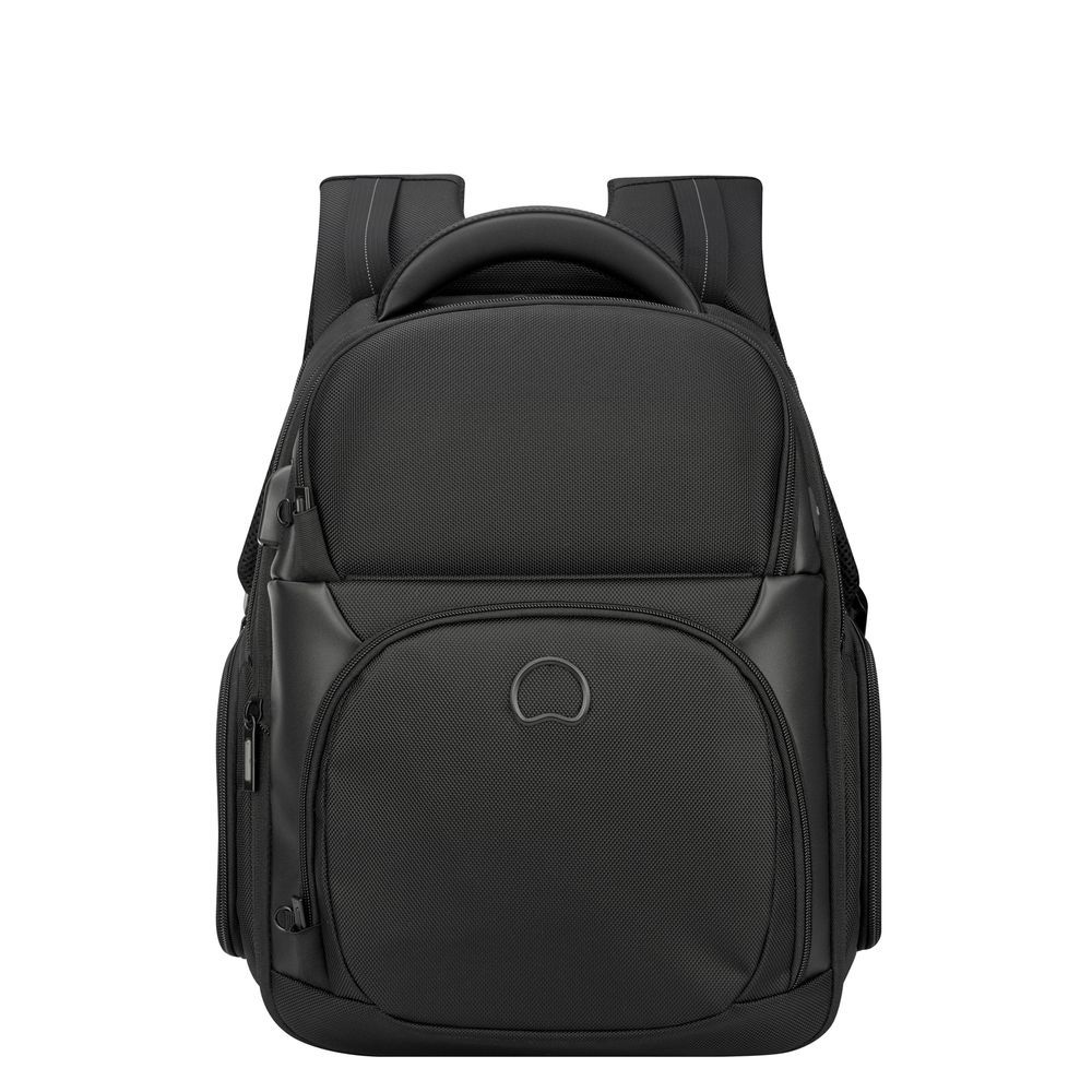 Delsey Quarterback Premium Two Compartments Backpack M black