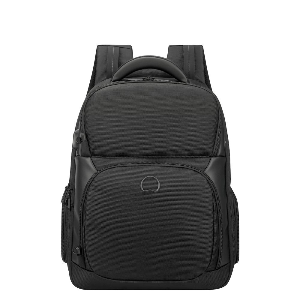 8f129e8c5f5 Delsey Quarterback Premium 1-CPT Backpack M 15.6'' Expandable  Black