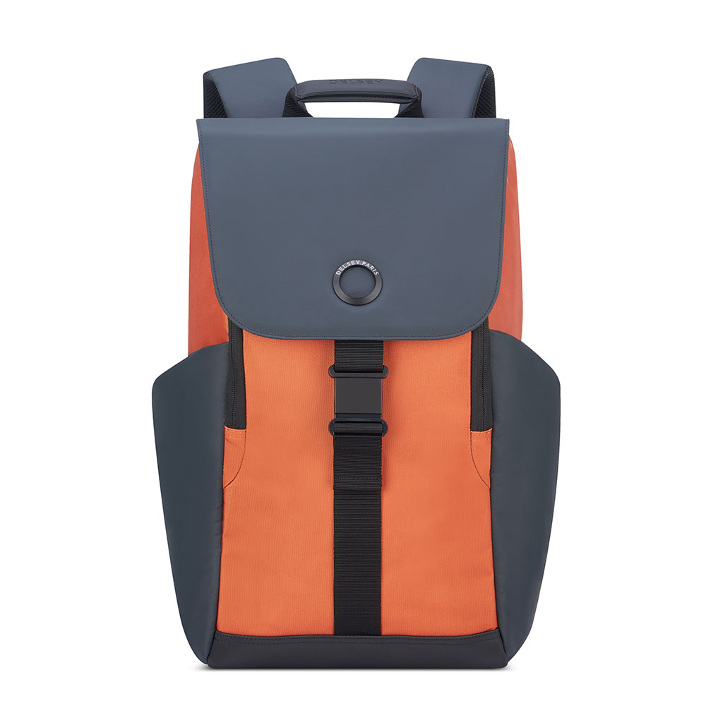 Delsey Securflap 1-Compartment Laptop Backpack 15.6 Orange