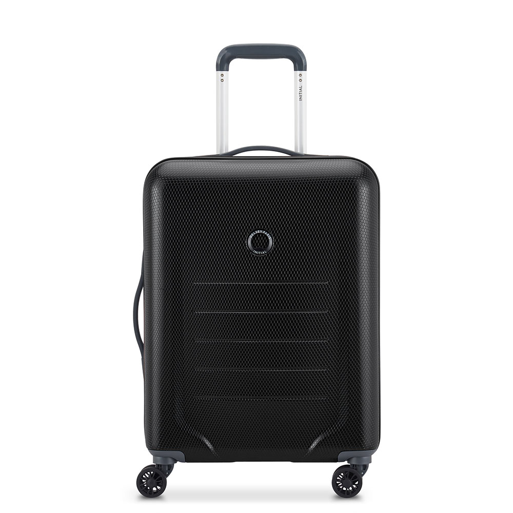 Delsey Toliara 4 Wheel Slim Cabin Trolley 55 Black