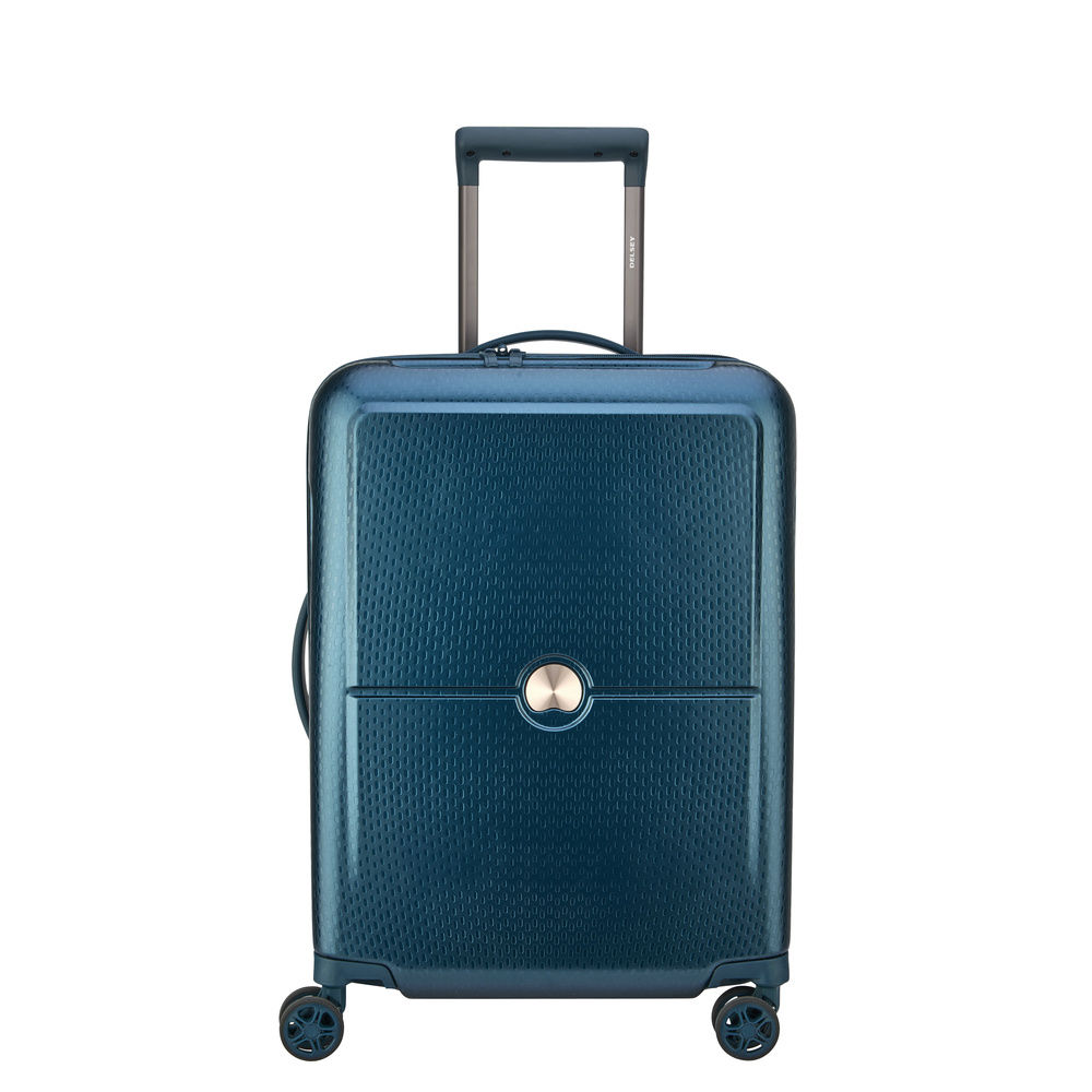 Delsey Turenne Slim Cabin Trolley 4 Wheel 55 Night Blue