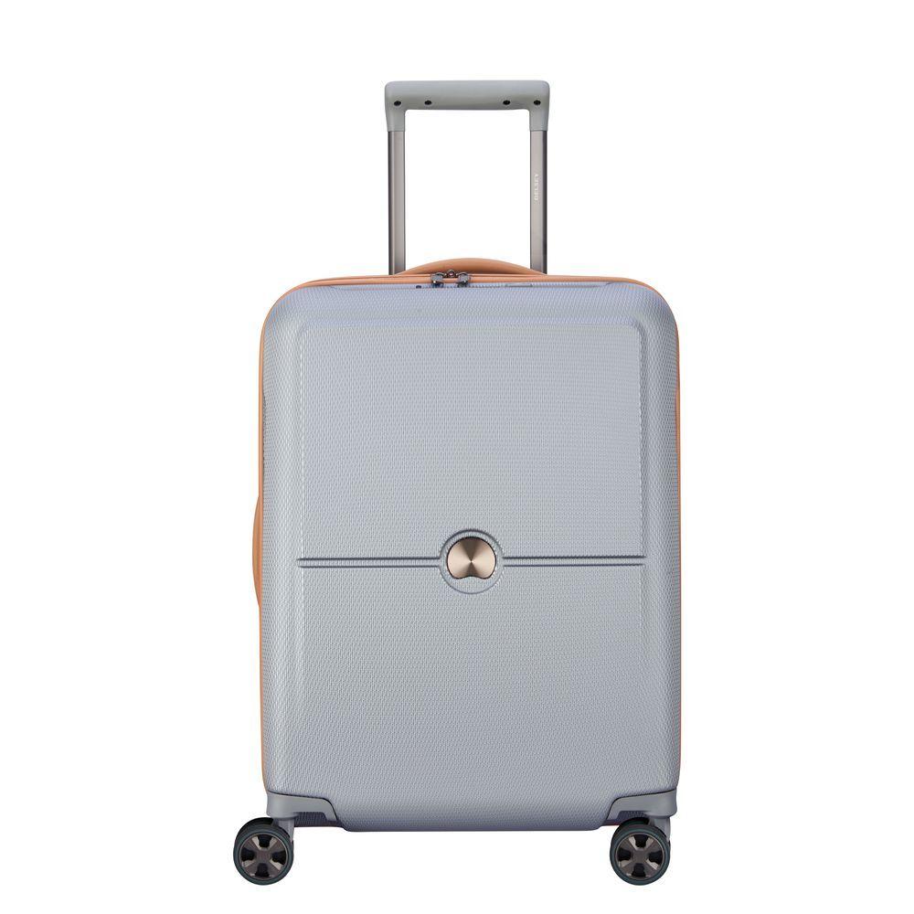 Delsey Turenne Premium Slim Cabin Trolley 4 Wheel 55 Silver