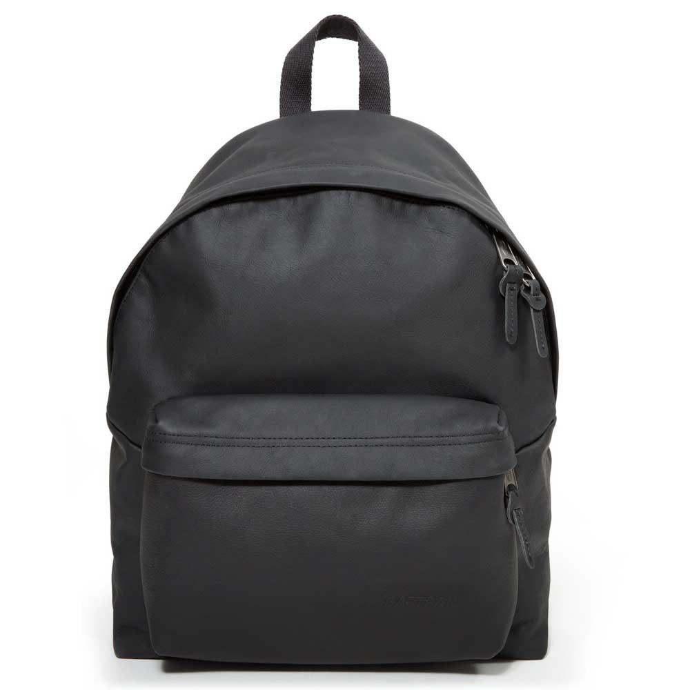 Eastpak Padded Pak'r Leather Rugzak Black Ink Leather