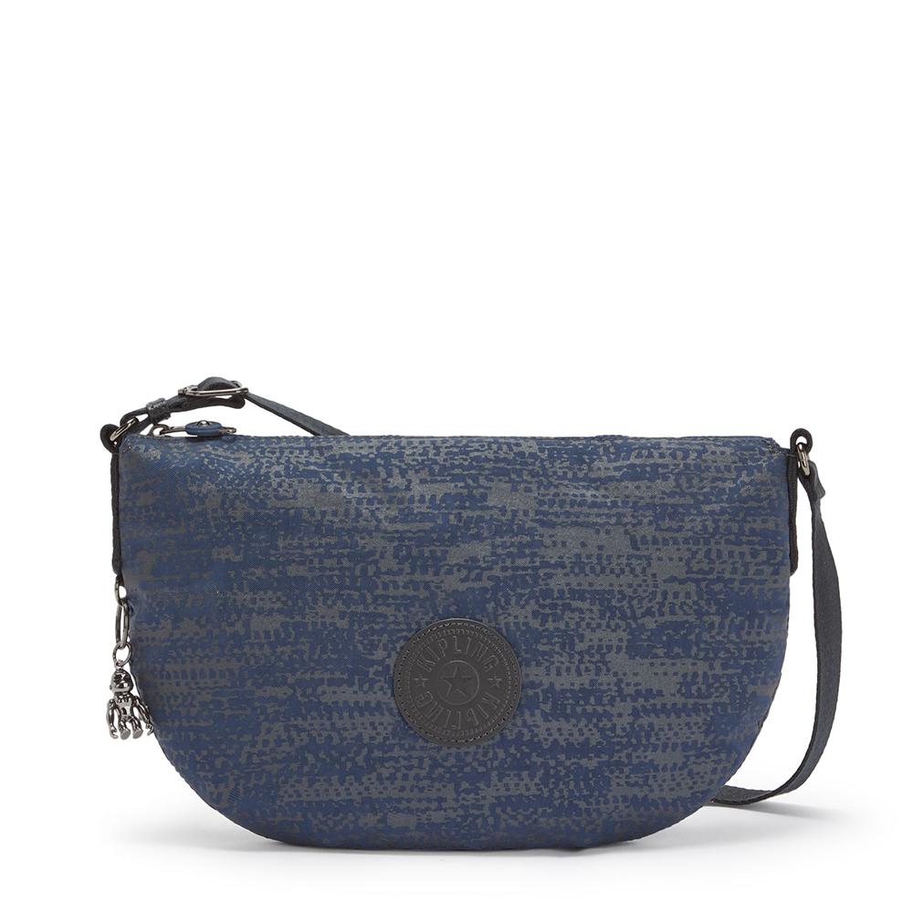 Kipling Emelia Crossbody Schoudertas Blue Eclipse Print