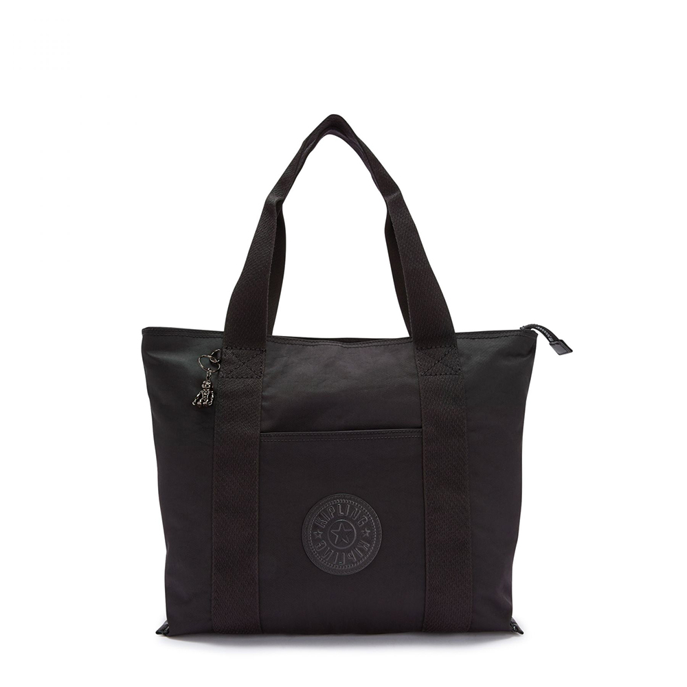 Kipling Era Medium Shopper Tote Rich Black