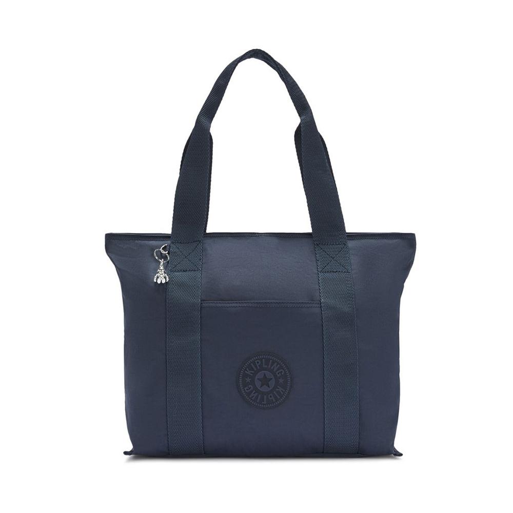 Kipling Era Medium Shopper Tote Rich Blue