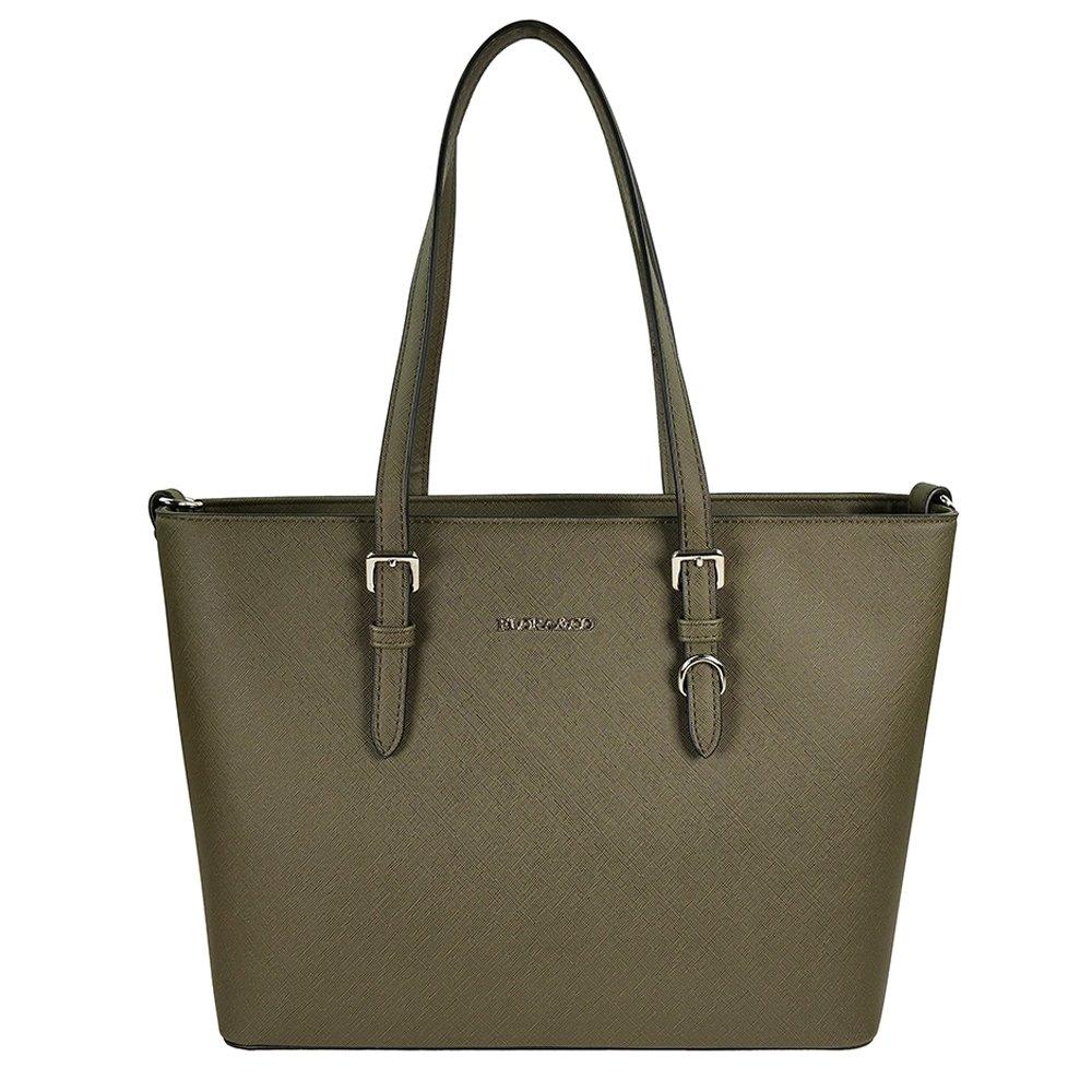 Flora & Co Shoulder Bag Saffiano Khaki Green