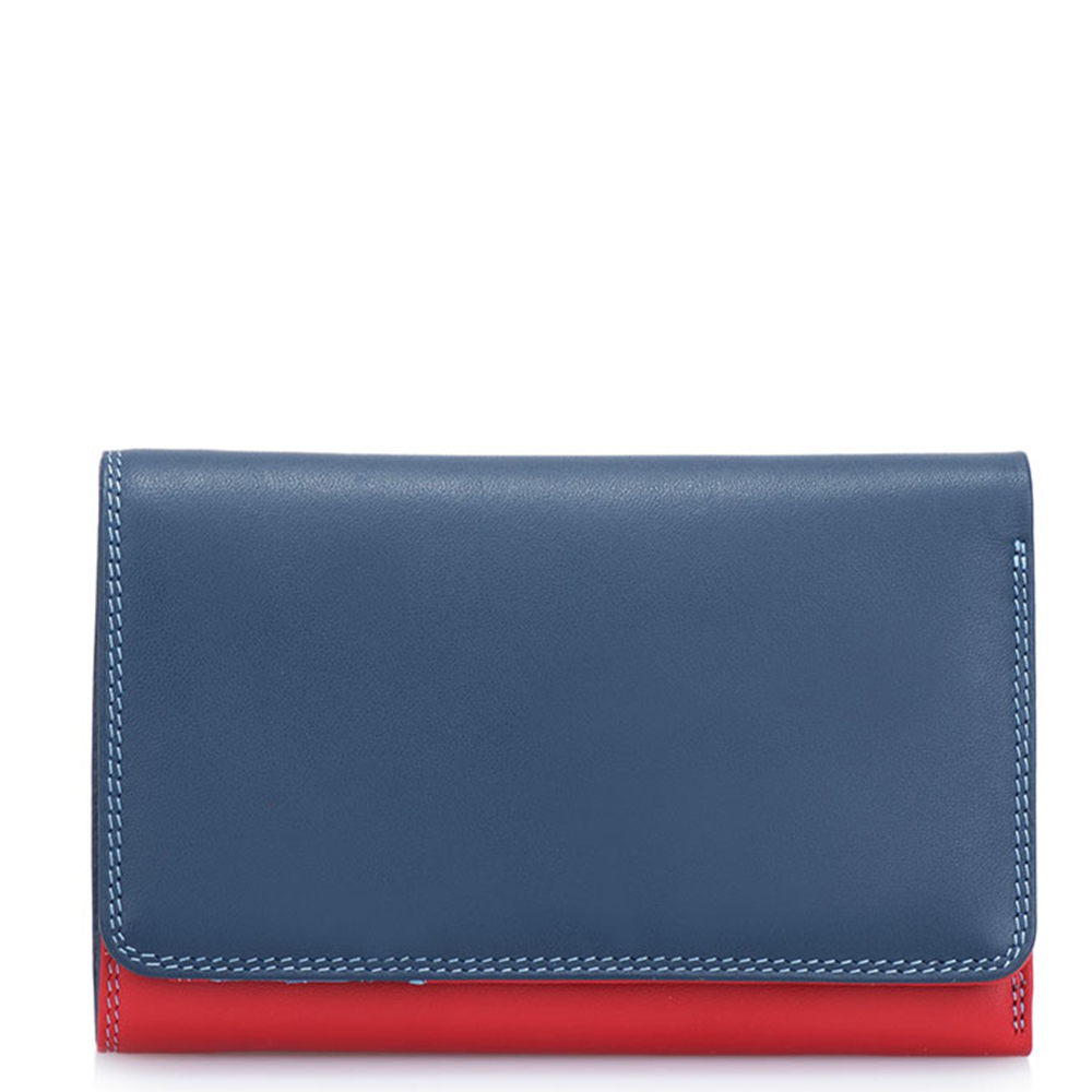 Mywalit Medium Tri-Fold Wallet Outer Zip Portemonnee Royal