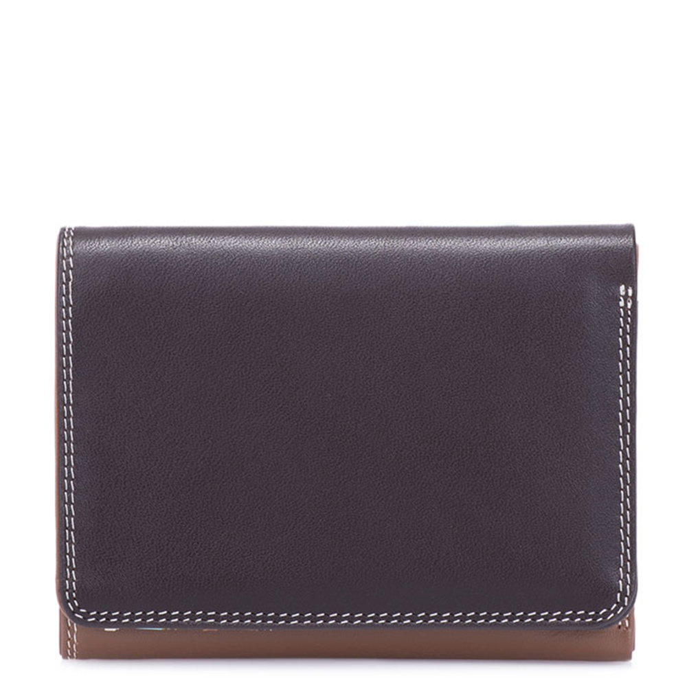 Mywalit Medium Tri Fold Wallet Portemonnee Mocha Mywalit Het leukste