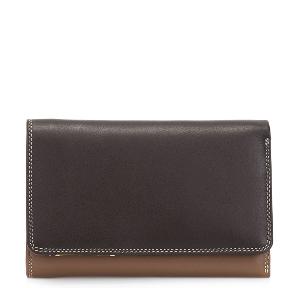 Damesportemonnees Mywalit Mywalit Medium Tri Fold Wallet Outer Zip Portemonnee Mocha